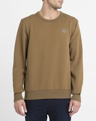 G Star Camel Core Sr W Logo Raw Round Neck Sweatshirt
