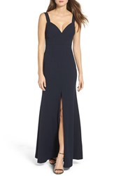 Vera Wang Women's V Neck Gown
