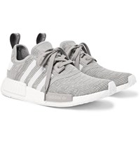 Adidas Originals Nmd R1 Rubber Trimmed Mesh Sneakers Gray