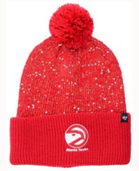 47 Brand '47 Women's Atlanta Hawks Hardwood Classics Glint Knit Hat Red