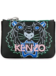 Kenzo Woman Pouch Small Tiger Black