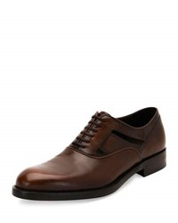 Salvatore Ferragamo Fort Cutout Oxford Shoe Brown