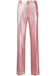 Msgm Straight Leg Trousers Pink