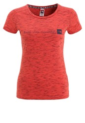 The North Face Print Tshirt Mottled Red