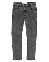 The Native Youth Jeans In Skinny Fit Acid Wash Grey