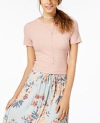 American Rag Juniors' Bow Back Crop Top Created For Macy's Fresco Pink