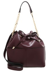Miss Selfridge Handbag Burgundy Dark Red
