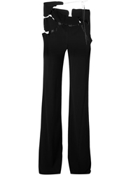 Jean Paul Gaultier Vintage Cut Out Tailored Trousers Black