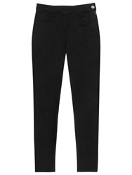 Reiss High Rise Cropped Jeans Black