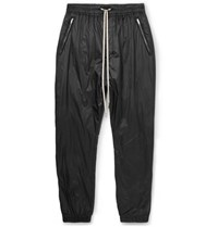 Rick Owens Tapered Shell Drawstring Trousers Black