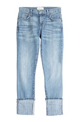 Current Elliott The Cuffed Skinny Jeans Blue