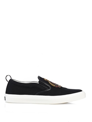 Gucci Anchor Patch Canvas Slip On Trainers