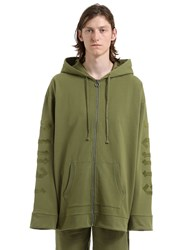 Fenty X Puma Hooded Cotton Sweatshirt W Lace Patches