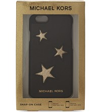 Michael Michael Kors Stars Saffiano Leather Iphone 6 6S Case Black Gold