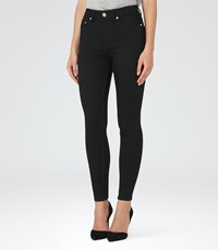 Reiss Helvin Black High Rise Skinny Jeans In Black Womens