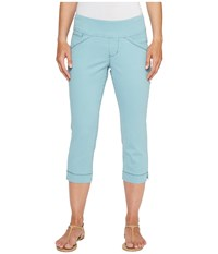 Jag Jeans Petite Marion Pull On Crop In Bay Twill Nile Women's Casual Pants Blue