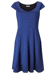 Jacques Vert Ponte Prom Dress Bright Blue