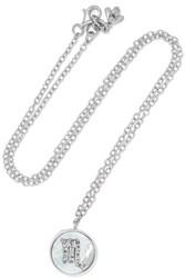 Carolina Bucci Scorpio Lucky 18 Karat White Gold Multi Stone Necklace One Size