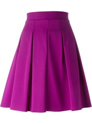 Etro A Line Ruffled Skirt Pink And Purple