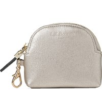 Lk Bennett Raven Metallic Leather Coin Purse Cre Champagne