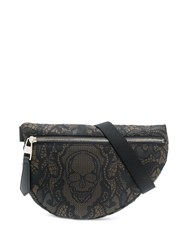 Alexander Mcqueen Printed Canvas Belt Bag Black