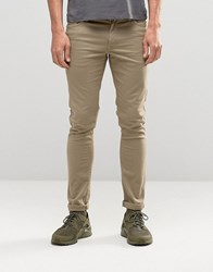 Asos Extreme Super Skinny Jeans In Light Green Burnt Olive