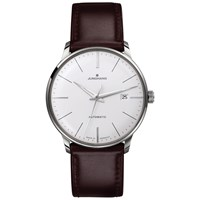 Junghans 027 4310.00 Men's Meister Classic Self Winding Stainless Steel Leather Strap Watch Brown White