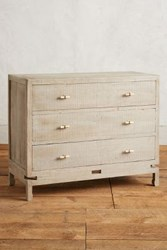 Anthropologie Tanah Three Drawer Dresser Grey