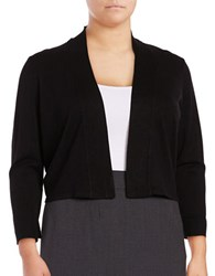 Calvin Klein Plus Lace Back Cardigan Black