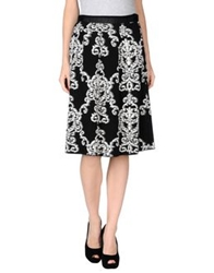 Devotion Knee Length Skirts Black