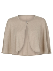 Kaliko Loose Sleeve Metallic Shrug Neutral