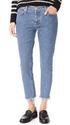 Hudson Riley Luxe Crop Jeans With Raw Hem Continuum