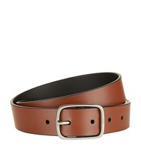 Paul Smith Smooth Leather Belt Unisex Brown
