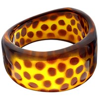 John Lewis Resin Spot Bangle Tortoise