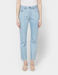 Gold Sign Benefit High Rise Relaxed Straight Jean Retro Pale