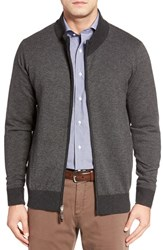 Peter Millar Men's Wool Blend Twill Knit Zip Sweater