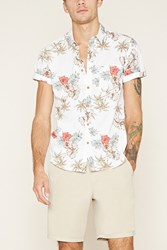Forever 21 Tropical Floral Print Shirt