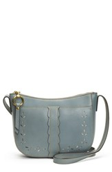 Frye Ilana Peforated Leather Crossbody Bag Grey Steel Grey