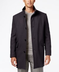 Kenneth Cole New York Tweed Overcoat Mercury
