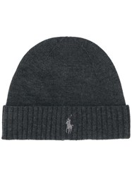Polo Ralph Lauren Embroidered Logo Beanie Grey