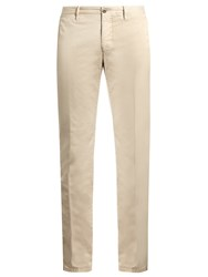Incotex Skinny Fit Cotton Blend Chino Trousers Beige