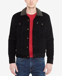 Levi's Denim Jacket With Faux Sherpa Lining Black Corduroy