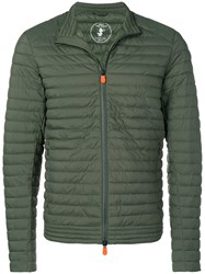 Save The Duck Zipped Padded Jacket Green