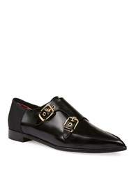 Ted Baker Naoi Double Leather Monk Strap Shoes Black