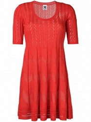 M Missoni Knitted Dress Red