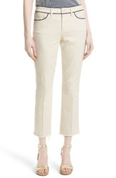 Tory Burch Women's Piped Crop Jeans