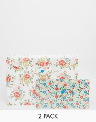 Cath Kidston Set Of 2 Printed Document Wallets White