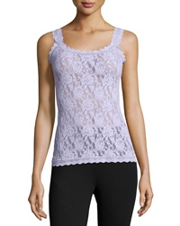 Hanky Panky Sheer Floral Lace Camisole Purple