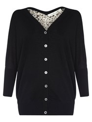 Damsel In A Dress Ebony Silk Cardigan Black