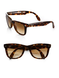 Ray Ban Folding Square Wayfarer Sunglasses Tortoise